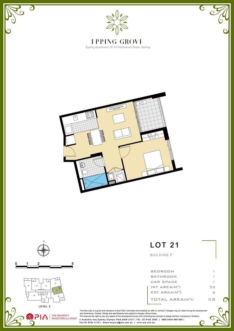 21/10-14 Hazlewood Place, Epping NSW 2121, Image 2
