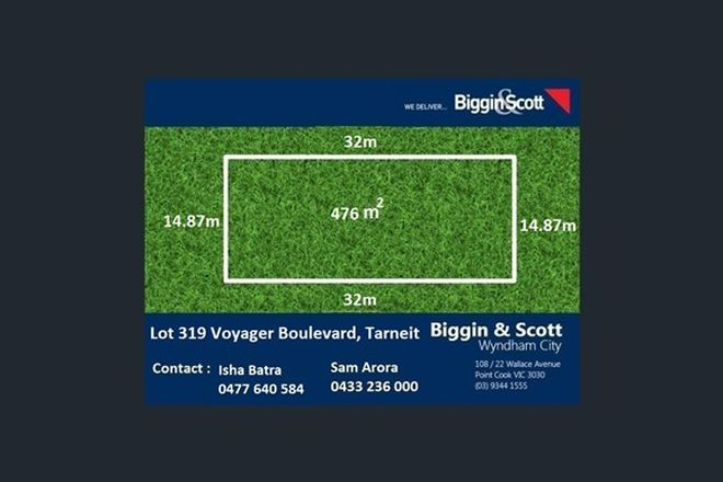 Picture of Lot 319 Voyager Blvd, TARNEIT VIC 3029