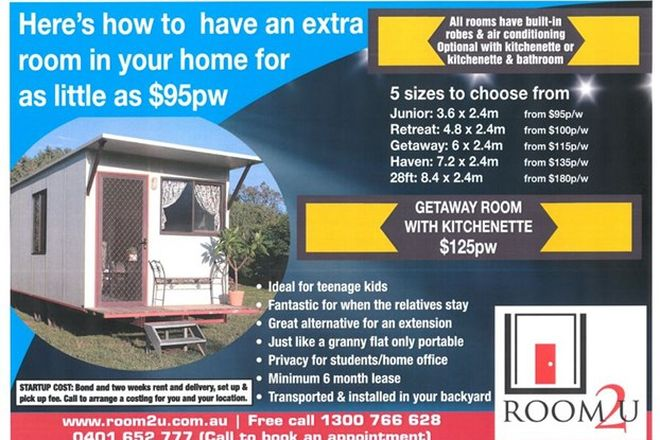 Picture of 1 Caravan/Portable Room for Rent Delivered to you, RICHMOND NSW 2753