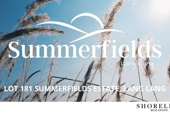 Picture of Lot 181 Summerfields Estate, LANG LANG VIC 3984