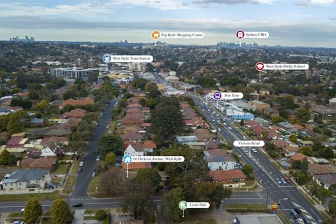 Picture of 66 Dickson Avenue, WEST RYDE NSW 2114