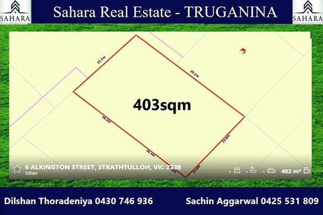 Picture of Lot 3345 Alkington Street, STRATHTULLOH VIC 3338