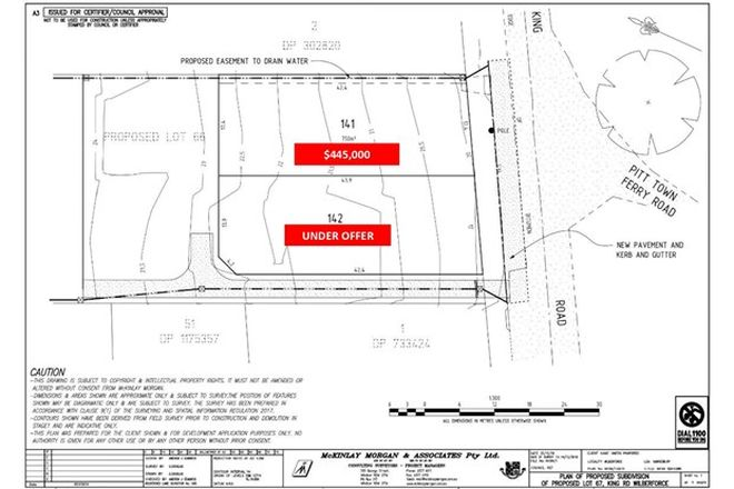 Picture of Proposed Lots at 121 King Road, WILBERFORCE NSW 2756