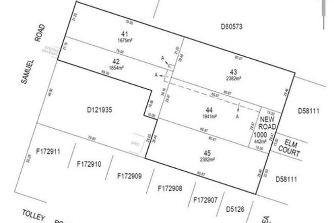 Picture of Lot 98 as portioned per proposed plan of division Lots 41,42,43,44 & 45, NURIOOTPA SA 5355