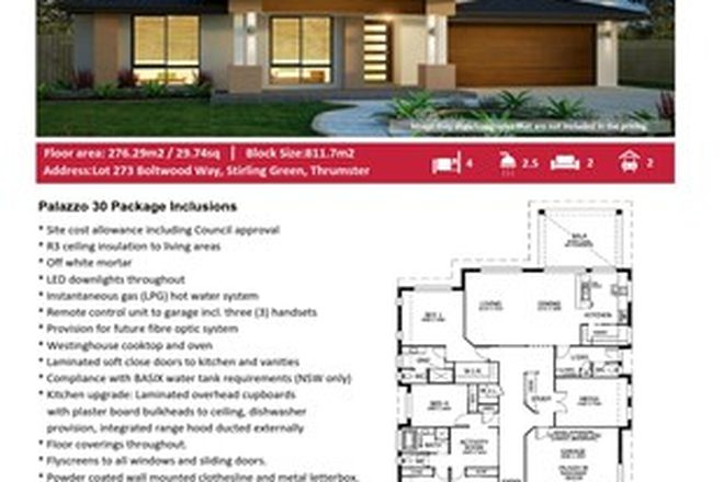 Picture of Lot 273 Boltwood Way, Stirling Green, THRUMSTER NSW 2444