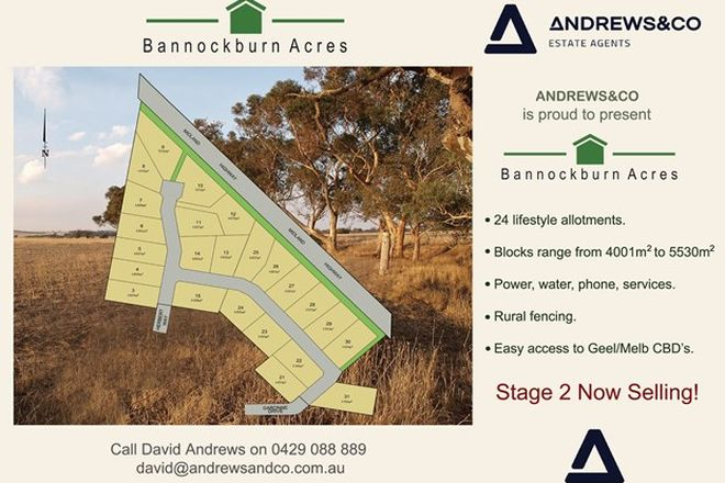 Picture of Lot 5 Bannockburn Acres Estate, BANNOCKBURN VIC 3331