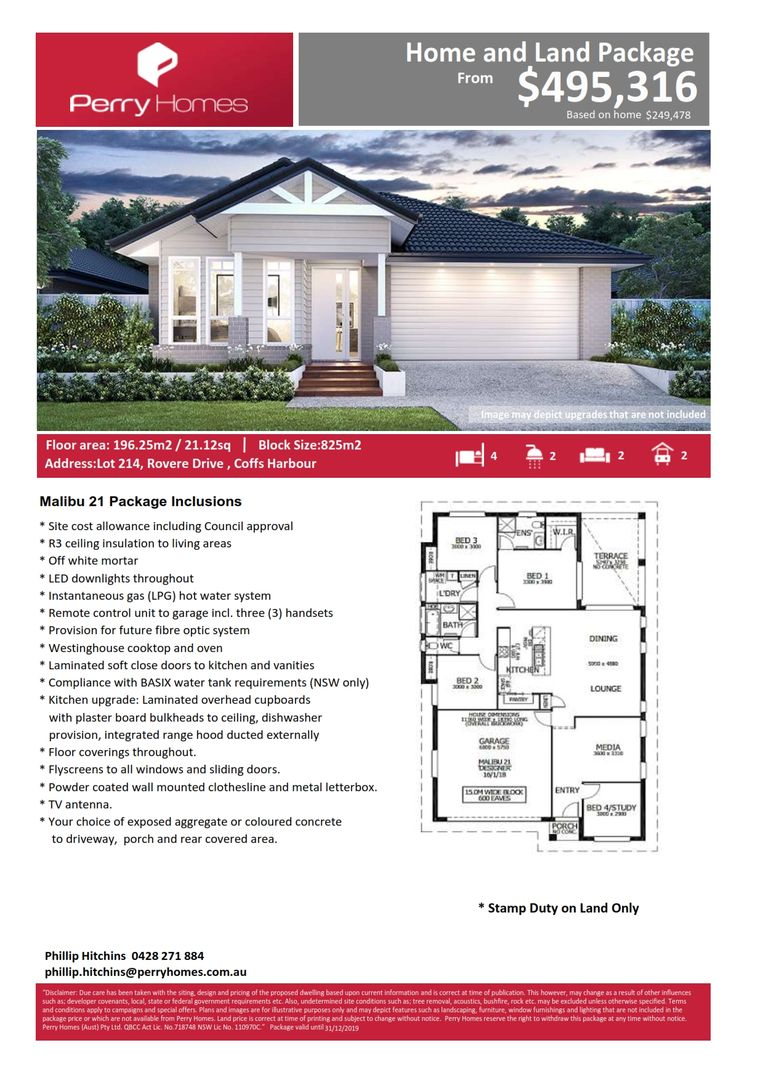 Lot 214  Rovere Drive, Coffs Harbour NSW 2450, Image 2