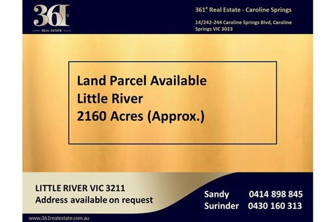 Picture of Bacchus Marsh Road, LITTLE RIVER VIC 3211