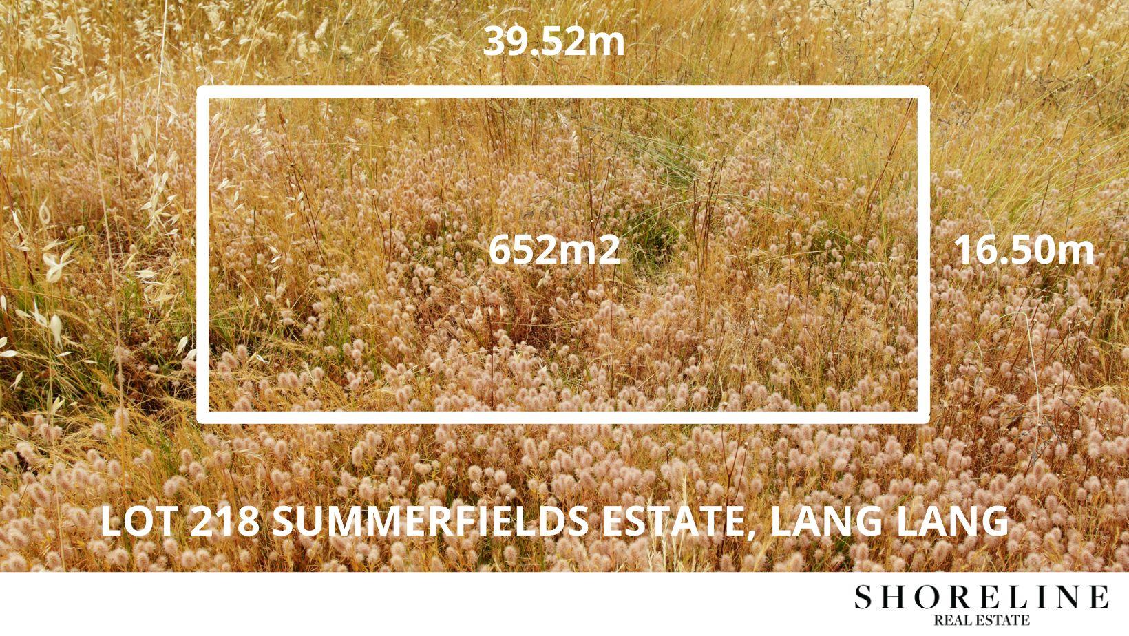 Lot 218 Summerfields Estate, Lang Lang VIC 3984, Image 1