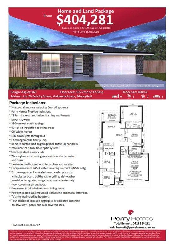 Lot 26 Felicity Street, Oaklands Estate, Morayfield QLD 4506, Image 1