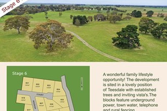 Picture of Lot 602 Tawarri Estate, TEESDALE VIC 3328