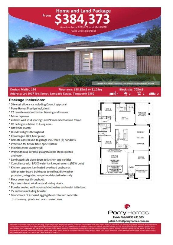 Lot 1017 Ibis Street, Tamworth NSW 2340, Image 1