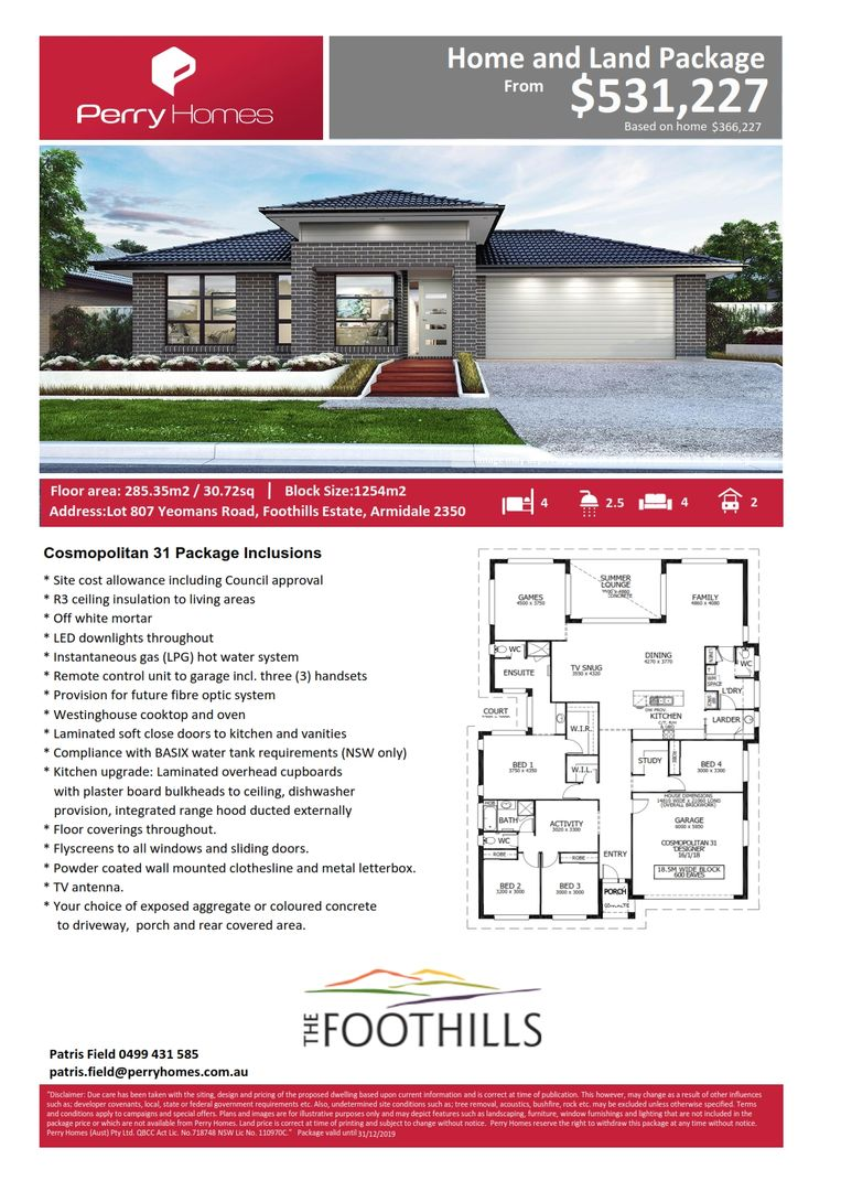 Lot 807 Yeomans Road, Armidale NSW 2350, Image 1