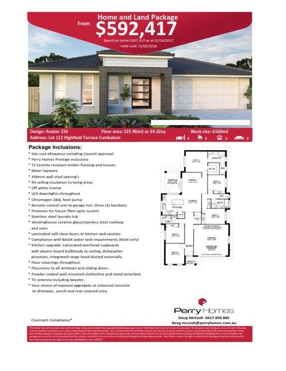 Lot 112 Highfield Terrace, Cumbalum NSW 2478, Image 1