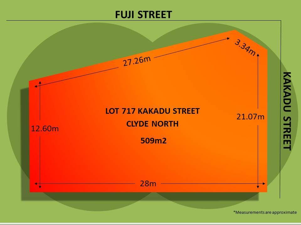 Lot 717 Kakadu Street, Clyde North VIC 3978, Image 1