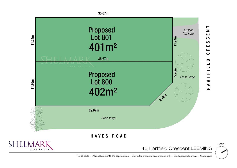Lots 800 & 801, 46 Hartfield Crescent, Leeming WA 6149, Image 0
