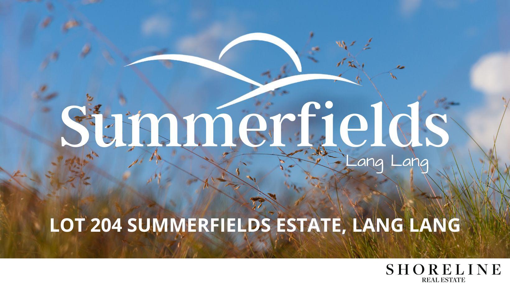 Lot 204 Summerfields Estate, Lang Lang VIC 3984, Image 0