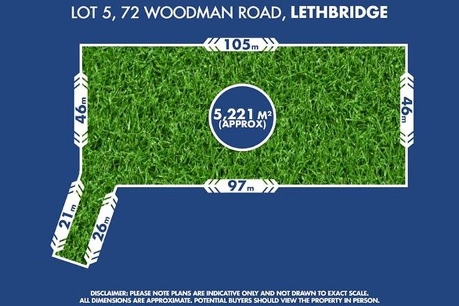 Picture of Lot 5, 72 Woodman Road, LETHBRIDGE VIC 3332