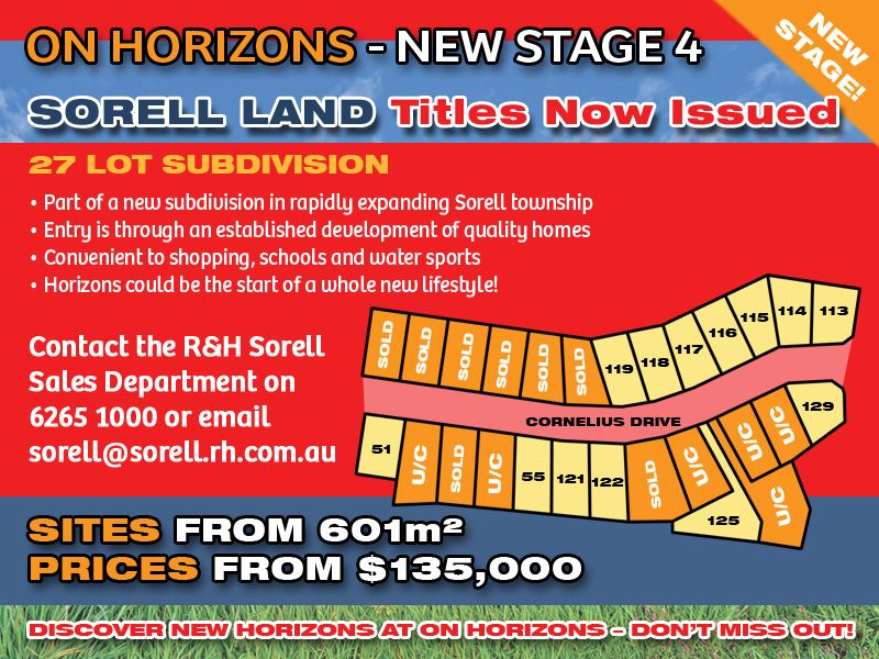 Lot 116 'On Horizons', Cornelius Drive, Sorell TAS 7172, Image 1