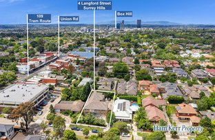 Picture of 4 Langford Street, Surrey Hills VIC 3127