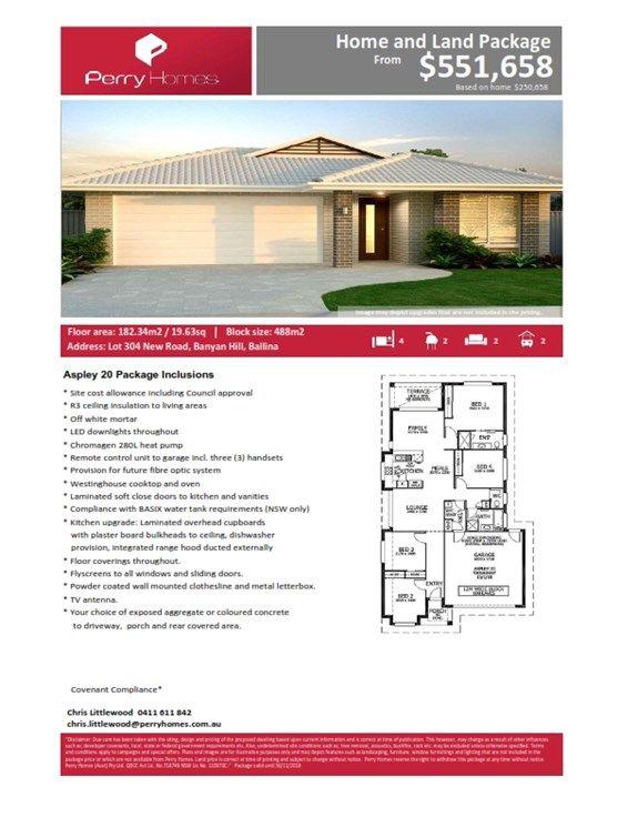 Lot 304 New Road, Banyan Hill Estate, Ballina NSW 2478, Image 1