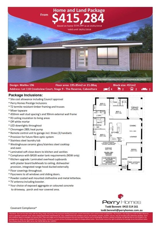 Lot 118 Creekview Court, Stage 9 The Reserve, Caboolture QLD 4510, Image 1