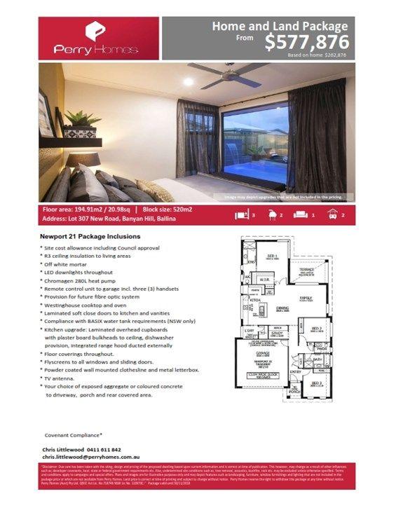 Lot 307 New Road, Banyan Hill Estate, Ballina NSW 2478, Image 1