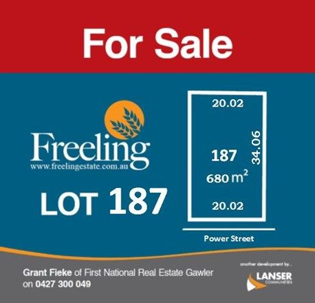 Lot 187 Power Street, Freeling SA 5372, Image 0