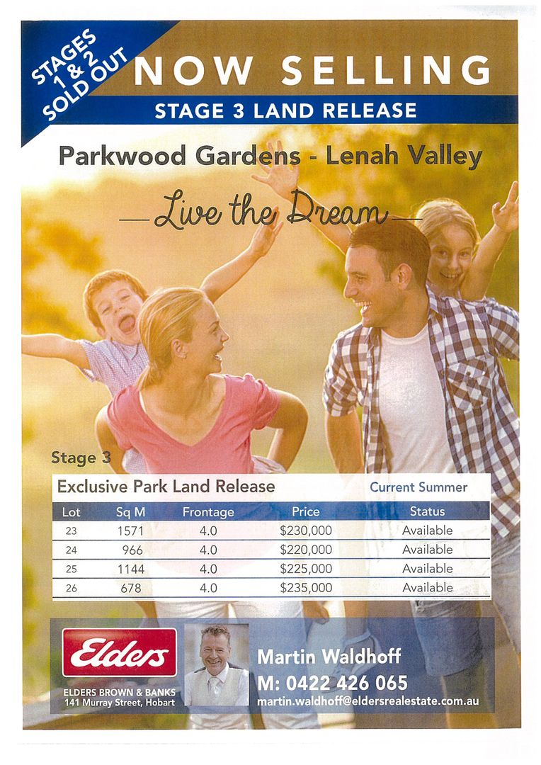 Lot 23 Stage 3 Parkwood Gardens, Lenah Valley TAS 7008, Image 1