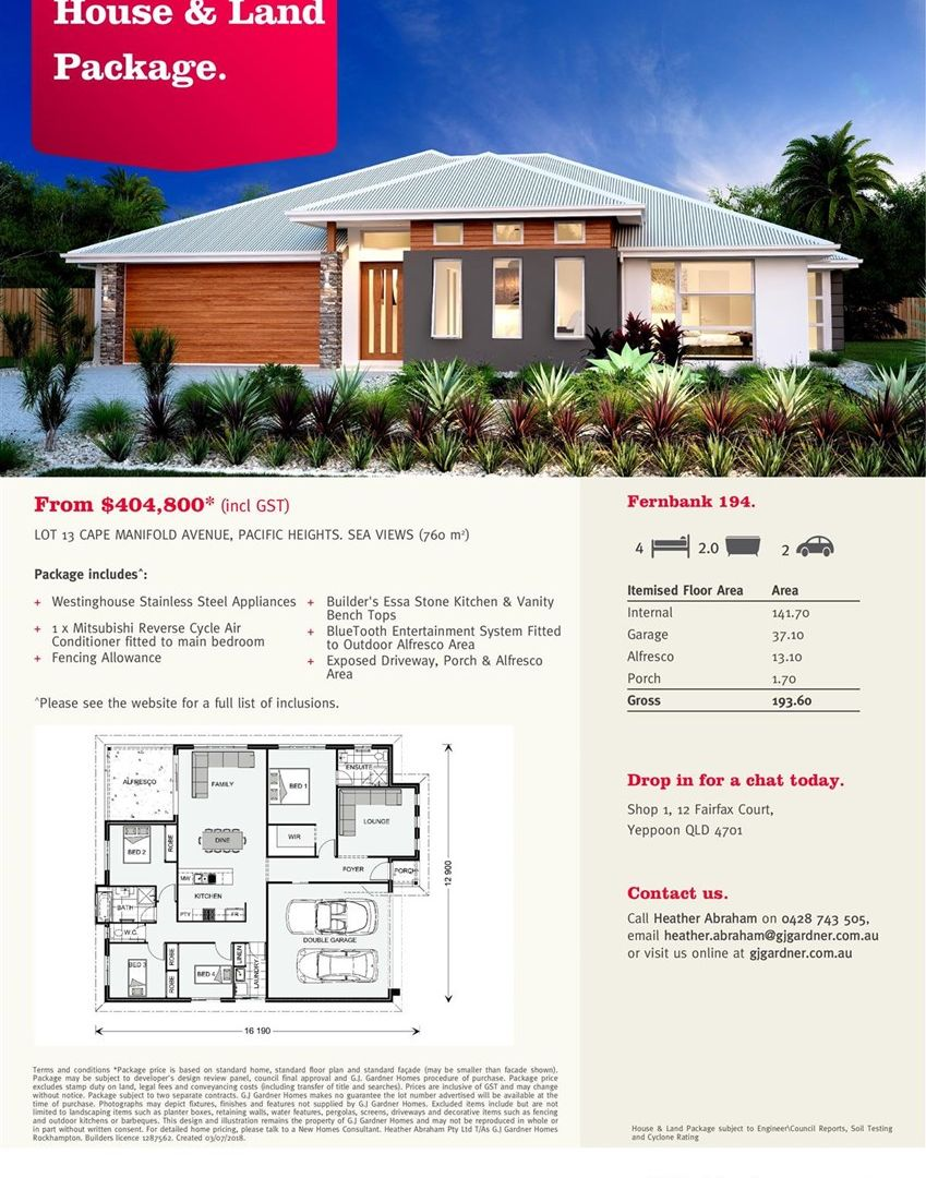 Lot 13 Cape Manifold Avenue, Pacific Heights QLD 4703, Image 1