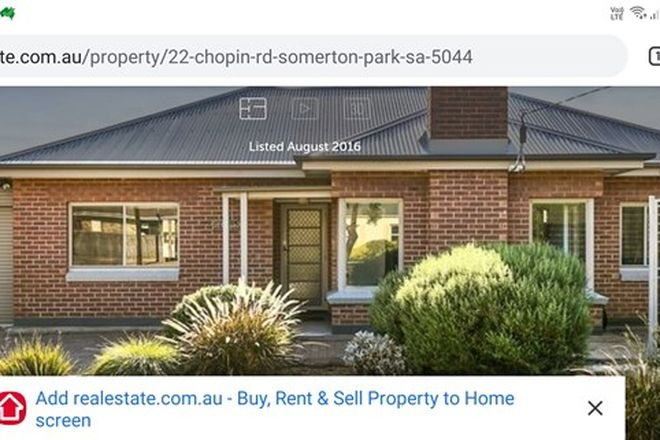 Picture of 22 Chopin Rd, SOMERTON PARK SA 5044