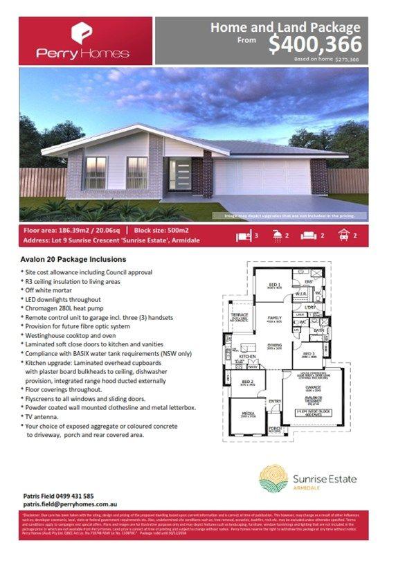 Lot 9 Sunrise Crescent 'Sunrise Estate', Armidale NSW 2350, Image 1