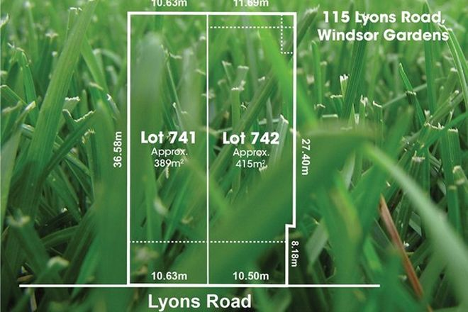 Picture of Lot 741 & 742/115 Lyons Road, WINDSOR GARDENS SA 5087