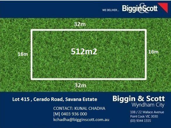 7 Lot 415 Cerado Road, Savana Estate, Wyndham Vale VIC 3024, Image 0