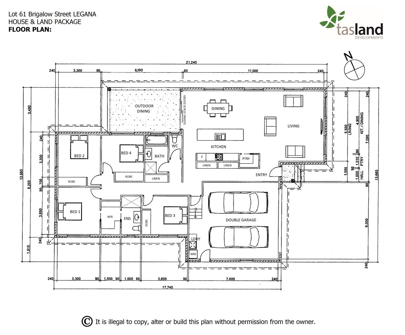 Lot 61 Brigalow Street, Legana TAS 7277, Image 2