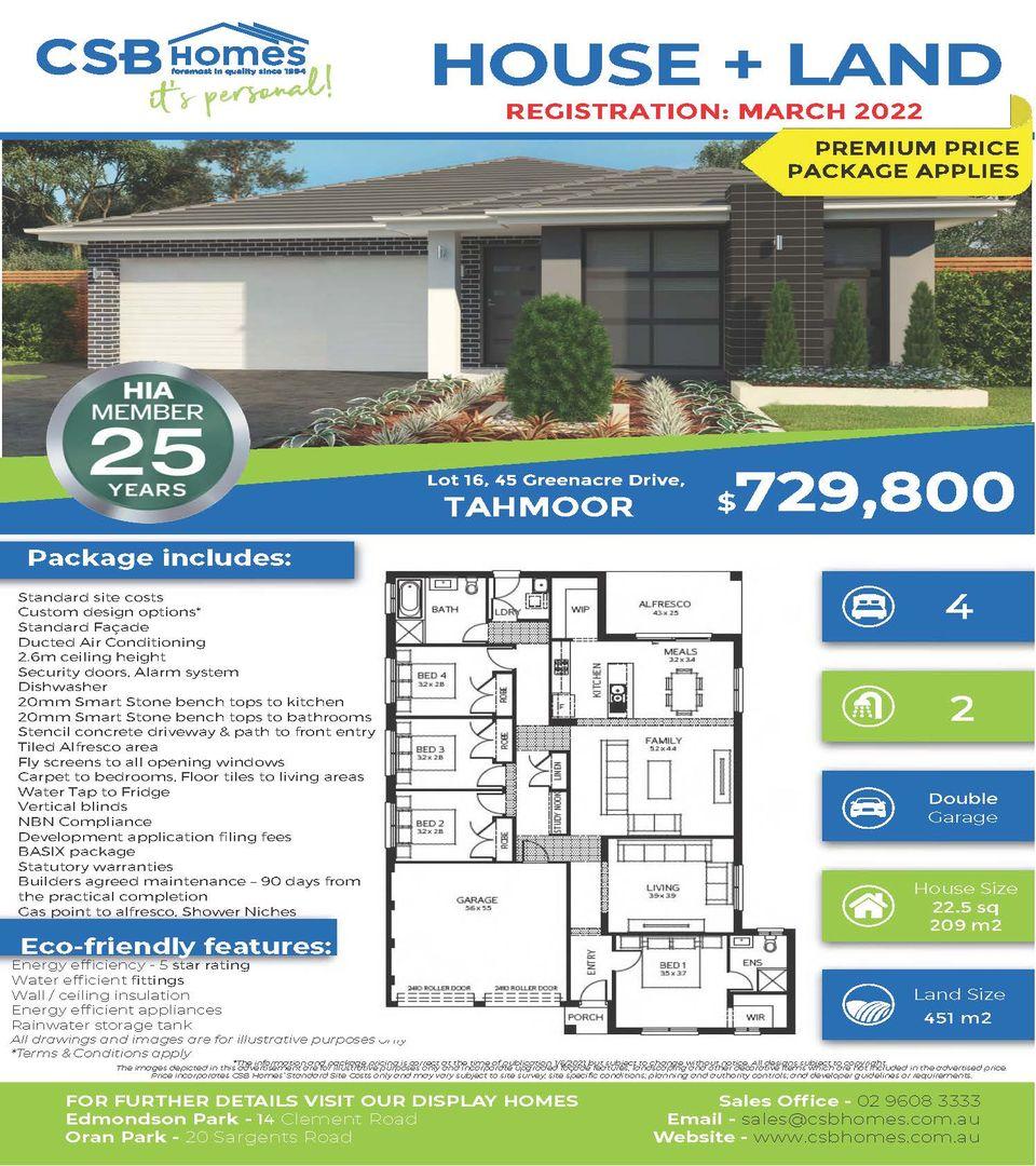 Lot 16, 45 Greenacre Drive, Tahmoor NSW 2573, Image 1