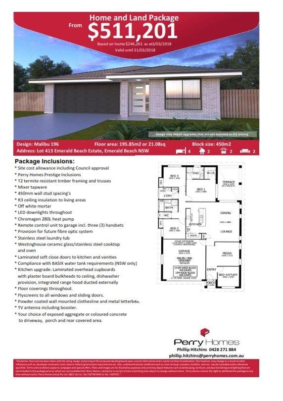 Lot 413 Emerald Beach Estate, Emerald Beach NSW 2456, Image 1