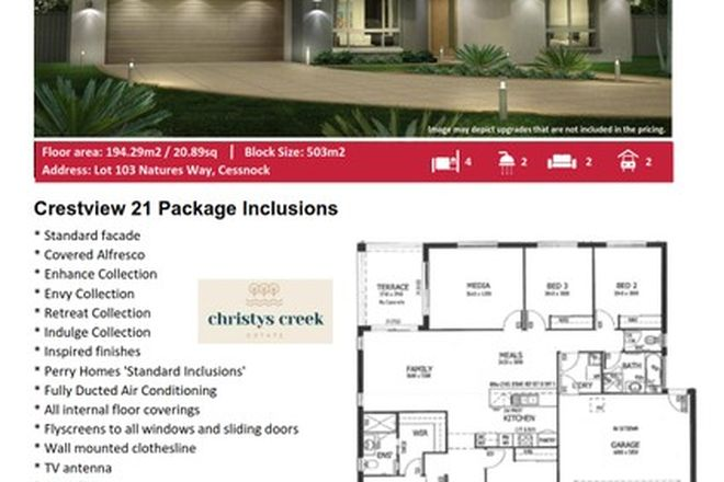Picture of Lot 103 Natures Way, CESSNOCK NSW 2325