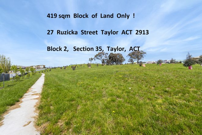Picture of 27 Ruzicka Street, TAYLOR ACT 2913