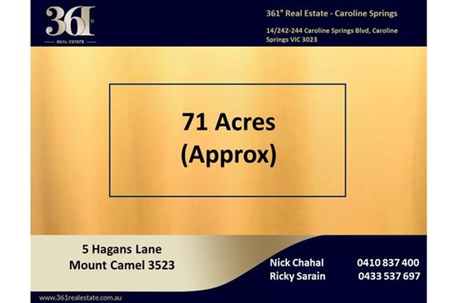 Picture of 5 Hagans Lane, MOUNT CAMEL VIC 3523