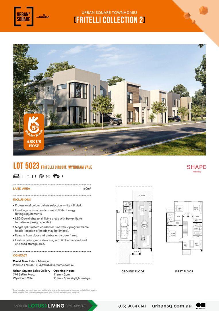 Lot 5023 Fritelli  Circuit, Wyndham Vale VIC 3024, Image 2