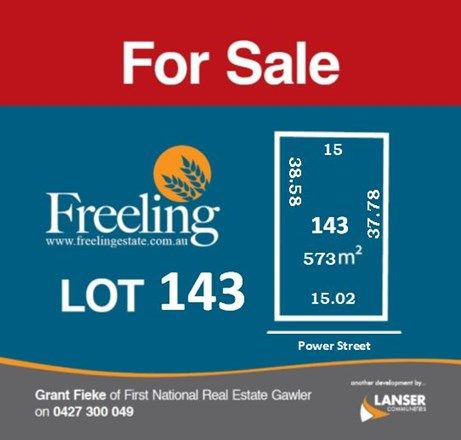 Lot 143 Power Street, Freeling SA 5372, Image 0