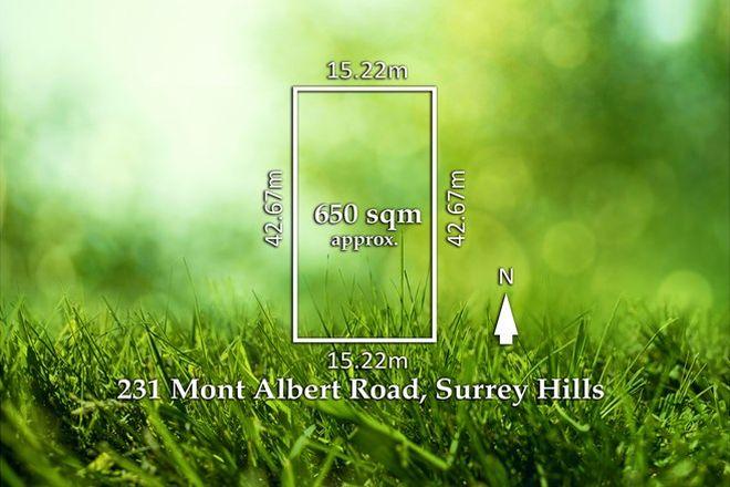 Picture of 231 Mont Albert Road, SURREY HILLS VIC 3127