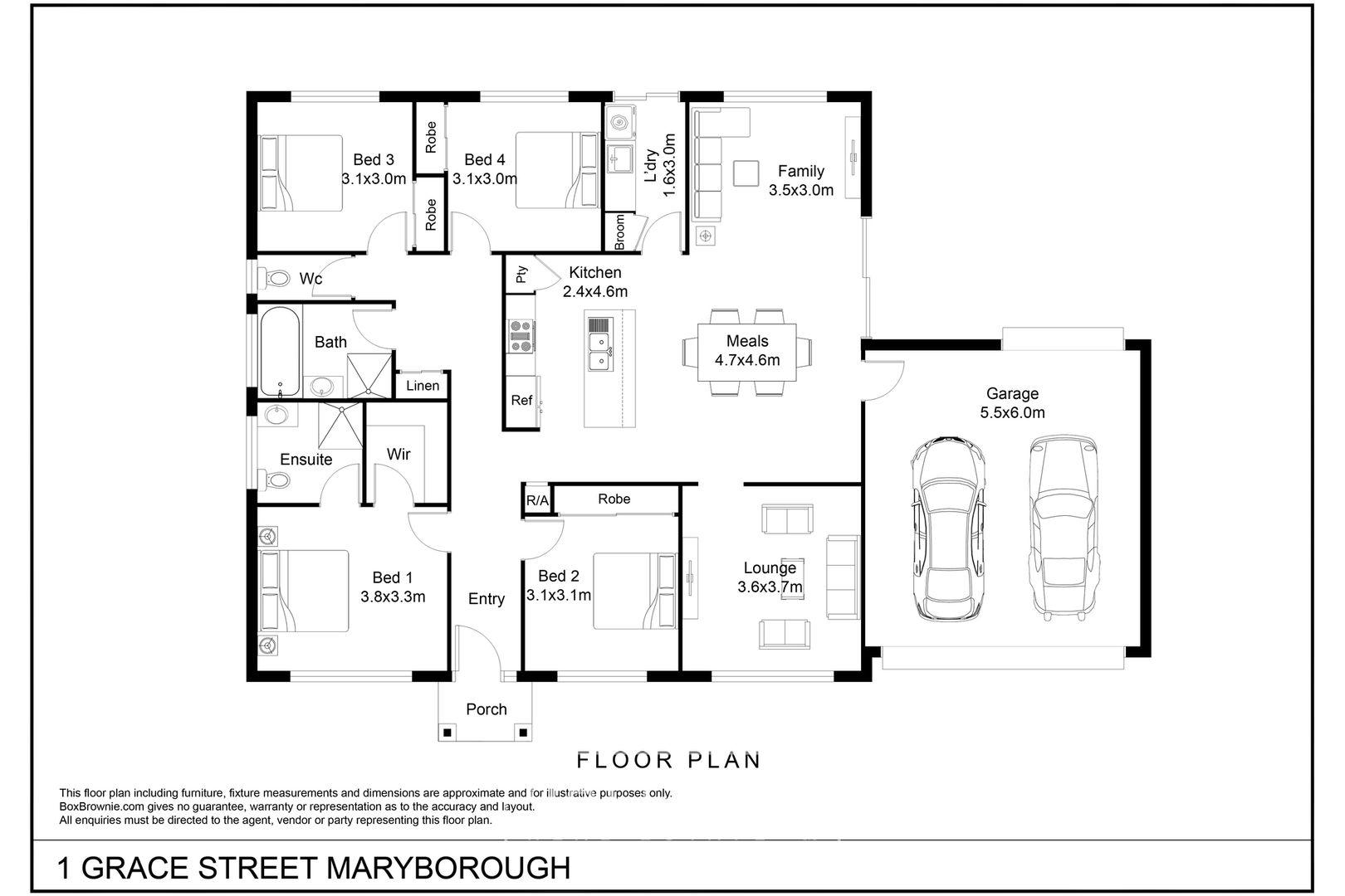 1 Grace  Street, Maryborough VIC 3465, Image 1