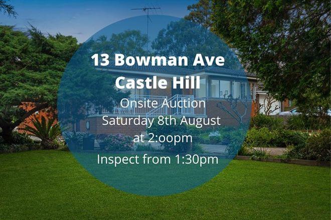 Picture of 13 Bowman Avenue, CASTLE HILL NSW 2154