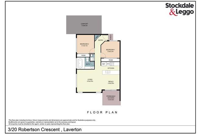 Picture of 3/20 Robertson Crescent, LAVERTON VIC 3028