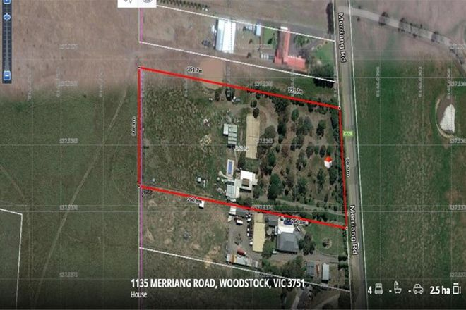 Picture of 1135 Merriang Road, WOODSTOCK VIC 3751