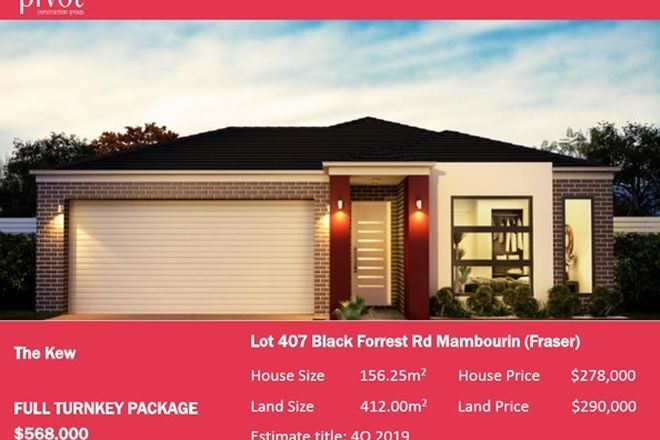 Picture of 414 (Lot 407) Black Forrest Road, MAMBOURIN VIC 3024