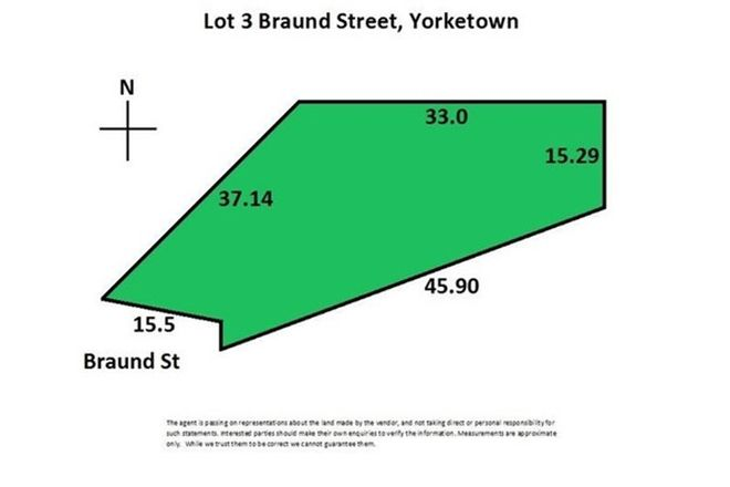 Picture of Lot 3 Braund Street, YORKETOWN SA 5576