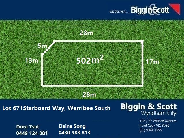 Lot 671 Starboard Way, Werribee South VIC 3030, Image 0
